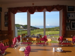 Dining room overlooking Dooey beach - B and B accommodation, Downings, County Donegal, Ireland
