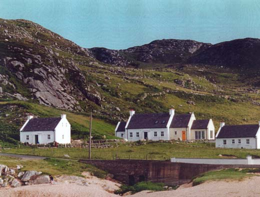 Dooey beach with main house and cottages in background - B&B accommodation, Downings, County Donegal, Ireland