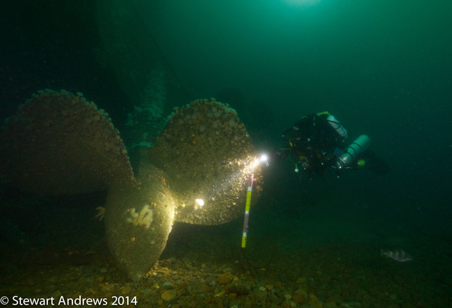 Port propellor and keel of HMS Audacious 7 July 2014 A