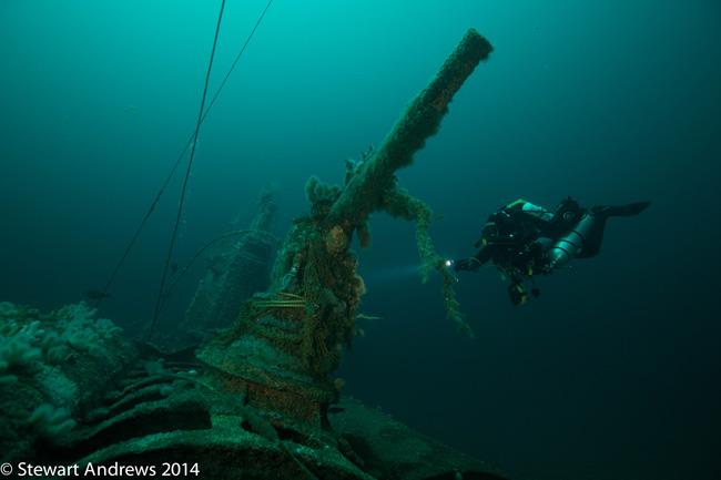 U89 WW1 U-Boat 88mm gun 8 July 2014